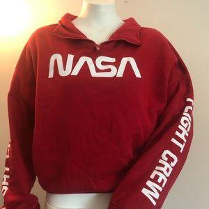 Hyper Space Red NASA flight crew half zip